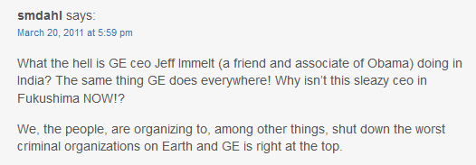 Comment from a member of the public on GE Reports blog